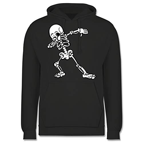 Shirtracer Halloween - Dabbing Skelett - L - Anthrazit - JH001 - Herren ()