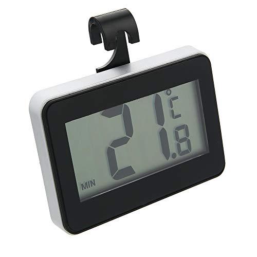 [Verbessert] Kühlschrankthermometer Digital Kühlschrank Thermometer, wasserdichtes digitales Kühlschrank Gefrier Thermometer mit gut lesbarer LCD Anzeige (hängender, stehender und magnetischer Stick)