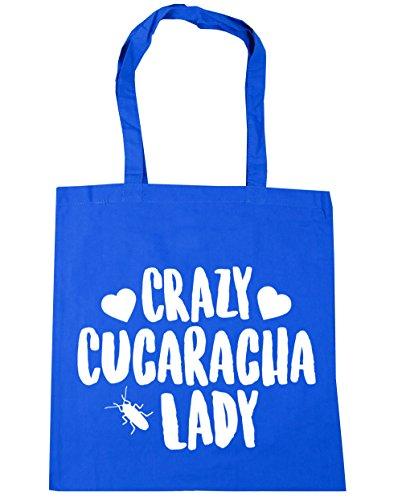 hippowarehouse-crazy-cucaracha-lady-bolso-de-playa-bolsa-compra-con-asas-para-gimnasio-42cm-x-38cm-1