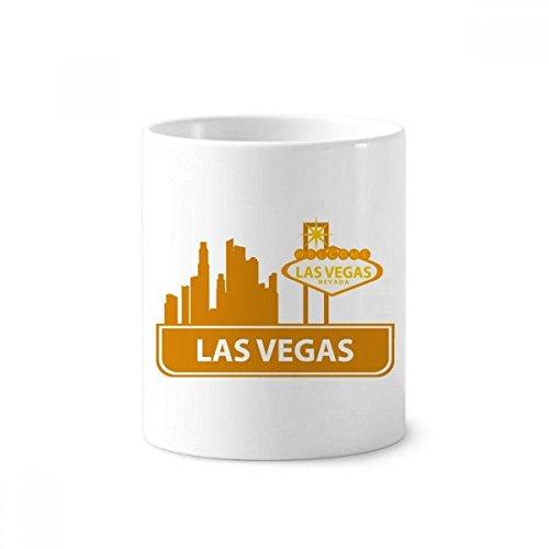 DIYthinker Willkommen nach Las Vegas Nevada Amerika Keramik Zahnbürste Stifthalter Tasse Weiß Cup 350ml Geschenk 9.6cm x 8.2cm hoch Durchmesser (Las Vegas Cup)