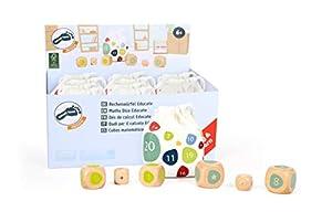 small foot company- Small Foot 11368 Display Cubos para calcular Educate de Madera FSC 100%, Juguetes de Aprendizaje para matemáticas