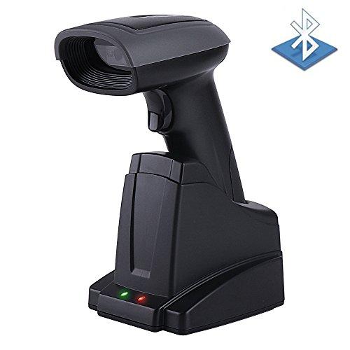 【PRIME DAY – SOLDES】2 EN 1 Bluetooth Barcode Scanner Filaire avec Récepteur de Charge + sans fil 2 en 1 Lecteur de Code à Barres Laser pour Android iOS Système Windows