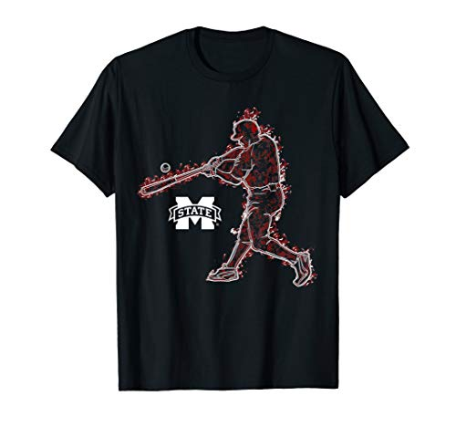 Mississippi State Bulldogs Baseball Player On Fire T-Shirt Mississippi State Player