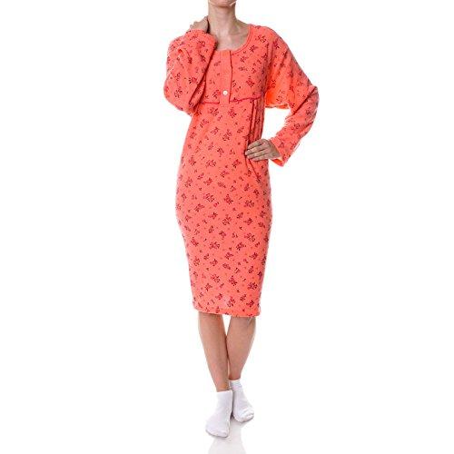 BEZLIT Damen Nachthemd Schlafshirt Nighty Sleepshirt Negligee 21693, Farbe:Rot, Größe:M