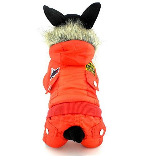 (ranphy Hund Katze Schnee Anzug Kälte Coats Airman Fleece Winter Mantel Overall wasserdicht Schneeanzug für Hunde Welpen unter 9kg (IT 'S Run Small, nehmen die nächste Größe bitte))