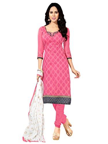 Applecreation Pink Chanderi Salwar Kameez