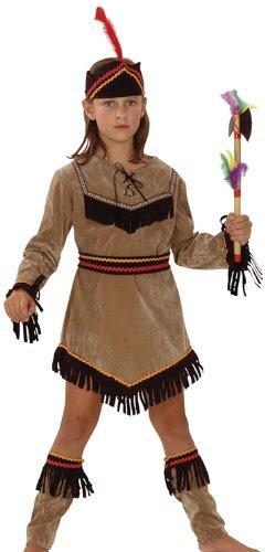 (Boland 86944 - Kinderkostüm Indianerin Kleine Adlerin, mit Kleid, Gürtel, Stiefelstulpen und Stirnband, 10 - 12 Jahre)