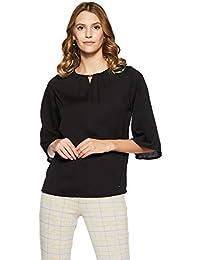 Park Avenue Women Plain Regular Fit Top