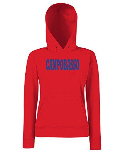 T-Shirtshock - Sweats a capuche Femme WC0941 CAMPOBASSO ITALIA CITTA STEMMA LOGO Rouge