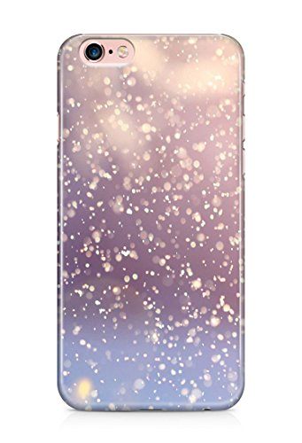 Beutiful whit snow flakes winter time plastic protective 3D cover case for iPhone 6Plus/6sPlus 4
