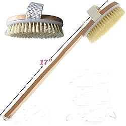 GBSTORE Best Dry Body Brush Natural Bristle for Skin Brushing Exfoliate Skin