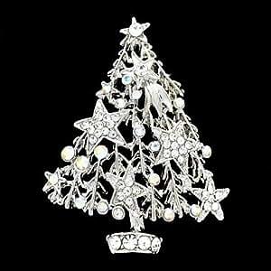 silber strass weihnachtsbaum brosche brosche f r die weihnachtszeit schmuck. Black Bedroom Furniture Sets. Home Design Ideas