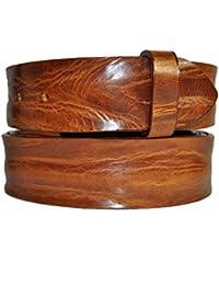 VaModa Ceinture en cuir, Belt, modèle Crush Saddle, sans boucle 6ebbcb38212