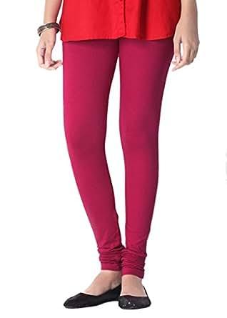 2Day Women's Cotton Dark Pink Leggings Medium