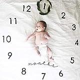 Neugeborene Baby Decke Bio-Muslin swaddle Decke Baumwoll Wickel Komfort und sichere Baby-Wrap (Uhr)