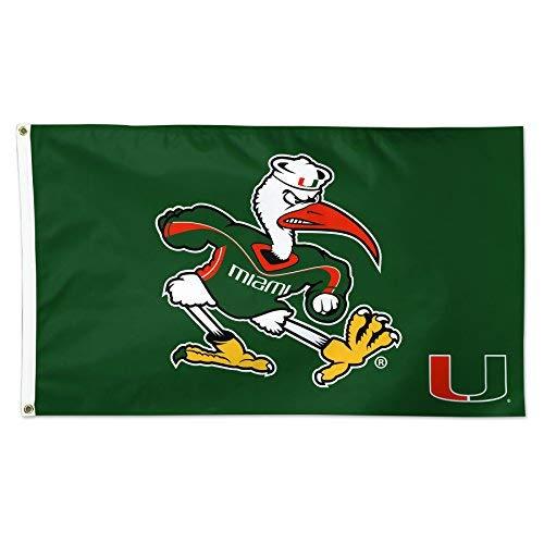 Wincraft Miami Hurricanes Ibis Sebastian 3x 5Fuß Flagge Deluxe - Miami Hurricanes 3x5 Flag
