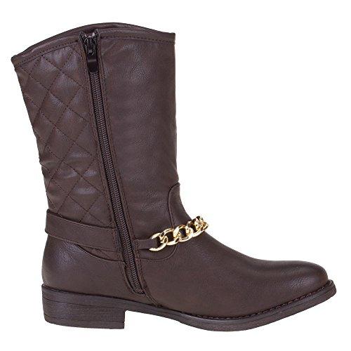 Damen Schuhe, JA3043, STIEFEL Dunkelbraun