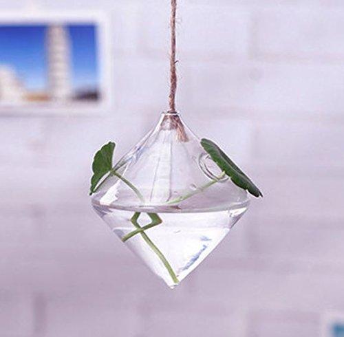 Zum Aufhängen Diamant geformte Glas Blume Vase Home Garten Hochzeit Party Dekoration von shopidea