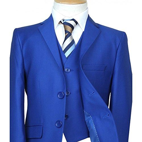 SIRRI Premium- Italienisch Cut Jungen Royal Blau Anzug, Seiten-Jungen- Hochzeit Abend Abendessen Jungen Anzug in Hellblau