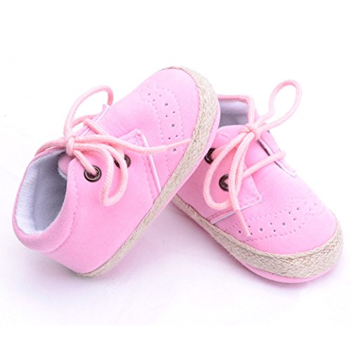 Brightup Baby Soft Soled Baby Schuhe, Baby Mädchen Winter Frühling Herbst Schuhe Booties Pink