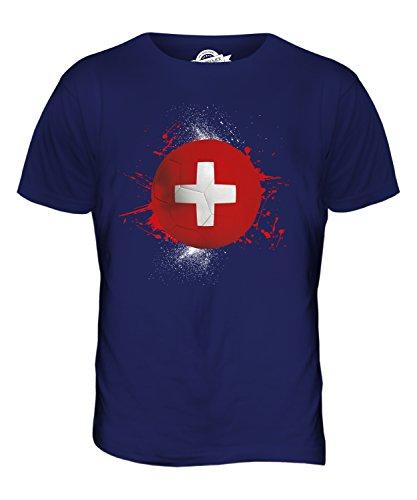 CandyMix Schweiz Fußball Herren T Shirt Navy Blau