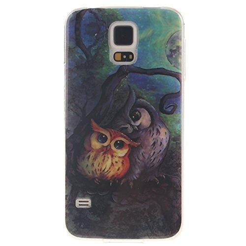 Aeeque iPhone 5S/SE/6/6S (Plus), Samsung galassia S3/S4/S5/S6/S6 bordo/S7/S7 bordo/A3/A5/(2016)/J1/J5/G360/G530, Sony Xperia Z3/M4, Huawei P8 Lite copertura dellalloggiamento sacchetto della copertur Cute Eule