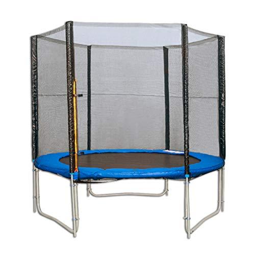 Trampolin Trampolin für Erwachsene Trampolin für den Innenbereich Trampolin mit Schutznetz Großes Trampolin Kann 300 kg tragen (Color : Blue, Size : 183 * 183 * 220CM)