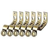 Vosarea Verstellbare Wandhalterung für Vorhangstange, 6er-Set, Bronzefarbe, Gardinenstangenhalter aus Premium-Stahl für Wände, Gardinenstangenhalter 18-22mm (Bronze)