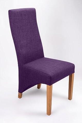 Shankar Baxter Plum Linen Style Chair