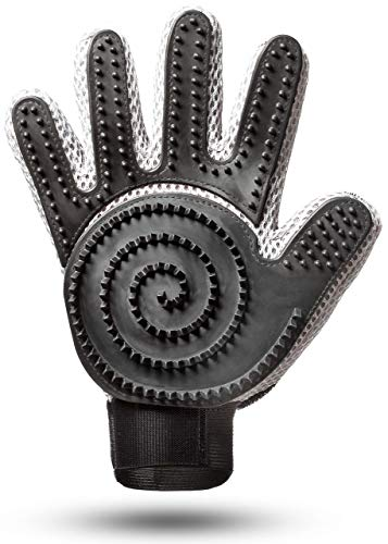 [Komplett verbessert] Fellpflege Handschuh 2.0 für Katze & Hund - kurzhaar, langhaar (2-seitig) -...