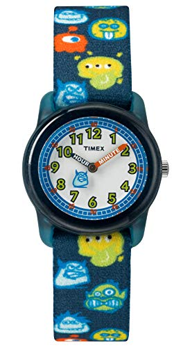 Timex Unisex Kinder Analog Quarz Uhr mit Nylon Armband TW7C25800 - Band 16mm Timex Watch