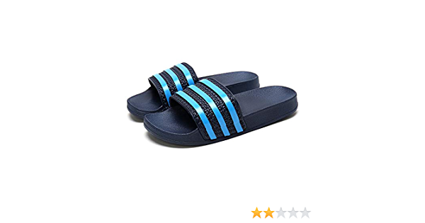 CHICOLIN Black Flats Sandals Sliders for Women Slides Flat Shoes Mules House Slippers Womens