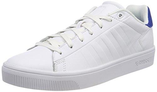 K-Swiss Herren Court Frasco Sneaker, Weiß (White/Classic Blue), 44.5 EU