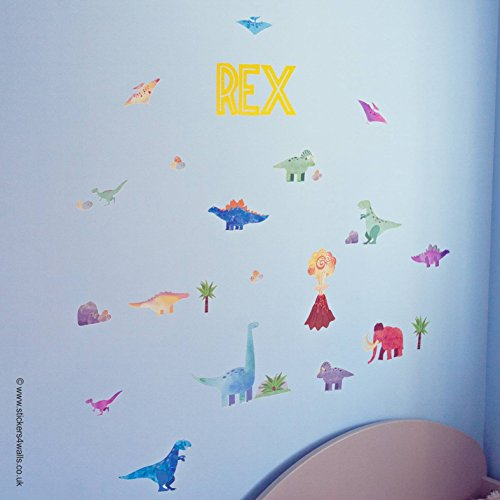 personalised-dinosaur-wall-stickers-removable-repositionable-fabric-wall-stickers