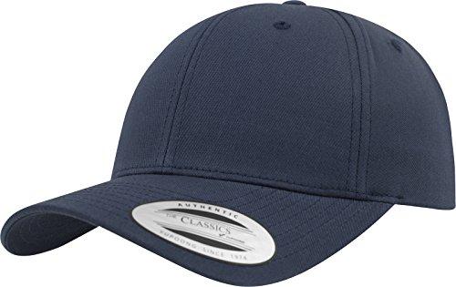 Flexfit Damen und Herren Baseball Caps Curved Classic Snapback Cap, Farbe Navy Blau