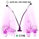 Pflanzenlampe YUNLIGHTS 18W 36 LED Pflanzenlichter 3 Automatisch Timer(3H/6H/12H), 5 Stufen Helligkeit, 360°Einstellbar für Zimmerpflanzen, Sukkulenten, Hydrokultur, Gemüse, Gewächshaus
