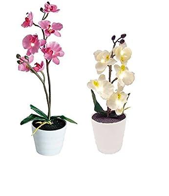 Künstliche Orchidee Blume Planze mit LED´s