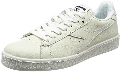 Diadora Game L Low, Sneaker Uomo, Bianco Nero, 44.5 EU