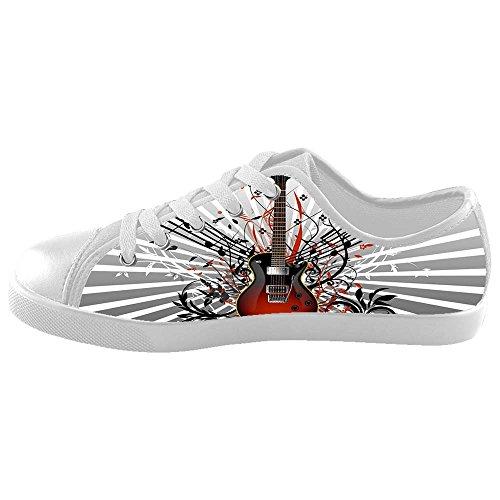 Nota Da Música Dalliy E Guitarra Caçoa Sapatas De Lona Schuhe Sneakers Calçados D