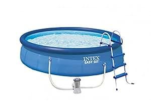 Intex aufstellpool easy pool set t v gs blau 457 x for Aufstellpool angebote