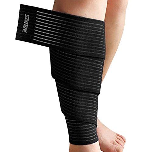 Lot de 2 Leg Protecteur de sécurité extérieur Veau Leg soutien des bandes Noir B
