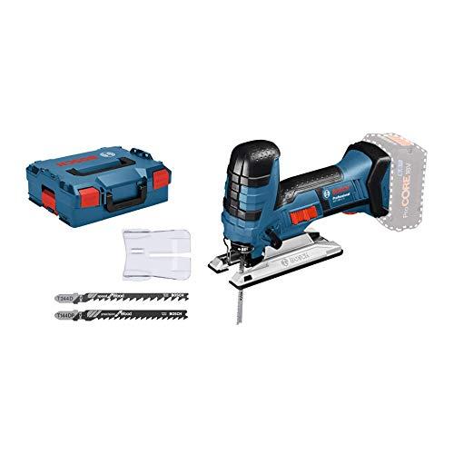 Bosch Professional 18V System Akku Stichsäge GST 18 V-LI S (Stabversion, Schnitttiefe in Holz/Alu/Metall: 120/20/8 mm, 3 Stichsägeblätter, Spanreißschutz, ohne Akkus und Ladegerät, in L-BOXX)