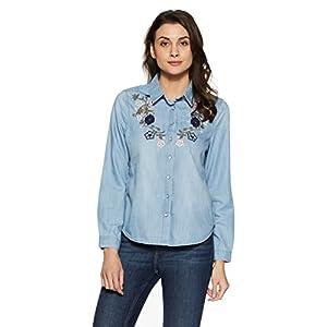 VERO MODA Women's Floral Regular Fit Shirt