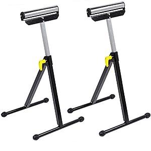 Forest Master – 2 bloques de caballete de 30 cm de ancho con ruedas plegables de altura regulable + plegable máx. 60 kg.
