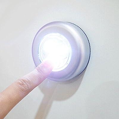 Nuohuilekeji Mini Wireless 3 LED Push Touch Lamp Kitchen Cabinet Closet Night Wall Light - inexpensive UK light shop.