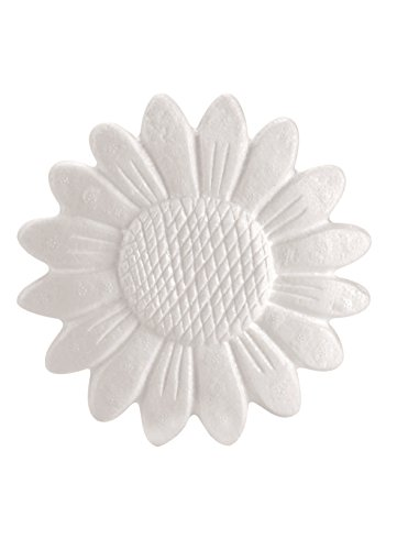 GLOREX Styropor Sonnenblume, Weiß, 23 x 18 x 2 cm