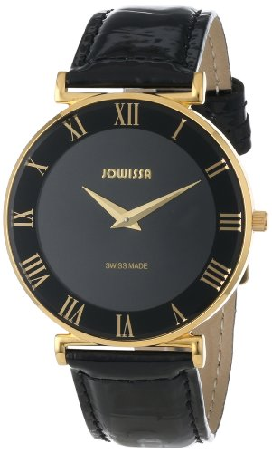 Jowissa - J2.039.L - Montre Femme - Quartz Analogique - Bracelet Cuir Noir