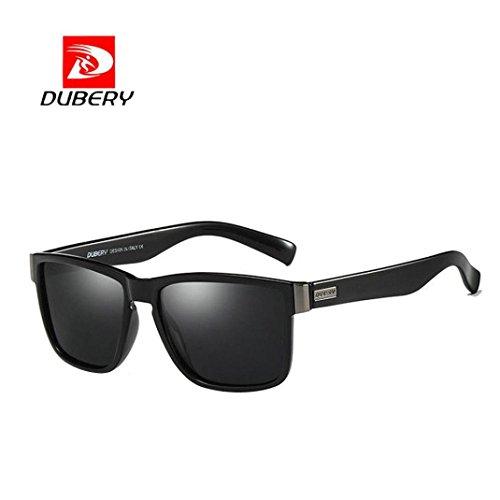 bescita DUBERY Herren Retro Vintage Sonnenbrille im angesagte Browline-Style mit markantem Halbrahmen Sonnenbrille,Brillen Trends 2018 (A)