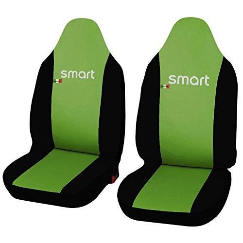Lupex Shop Smart.2S.Ec_Vc.N Coprisedili Auto in Ecopelle Verde Chiaro Nero