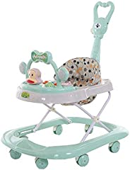 COOLBABY Baby Walker Multifunctional Anti-Rollover Anti-O Leg Can Sit Folding 6-18 Months,girl and boy Baby Wa